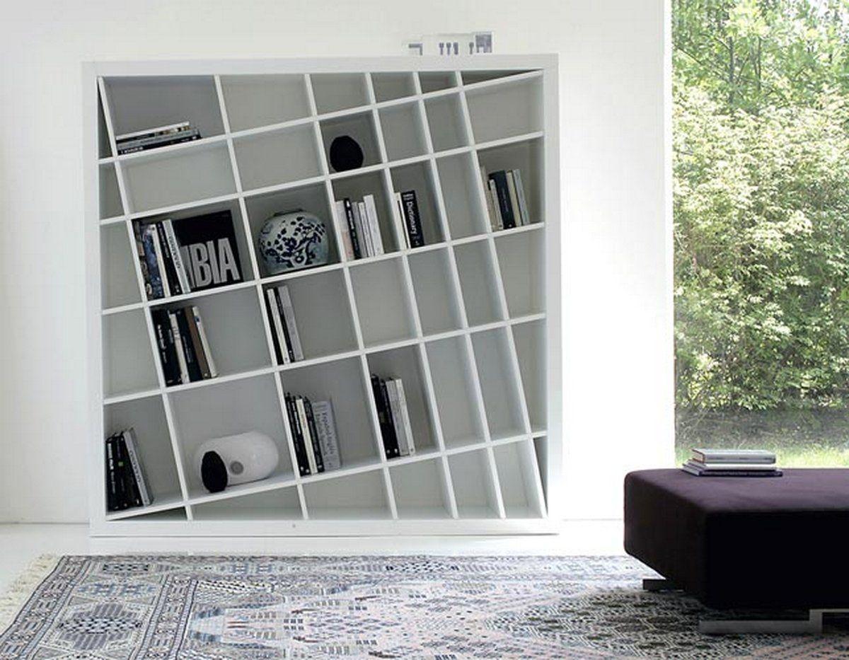 Modern Bookshelf elegant modern bookcase unique design KIOOCEY