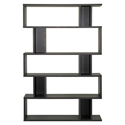 Modern Bookshelf goodwin 5 level modern bookshelf dark brown - baxton studio : target NRUSIYV