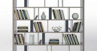 Modern Bookshelf grey modern bookshelf u0026 room divider, design, art urbane, art urbane ... PPJFCOT