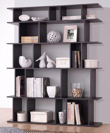 Modern Bookshelf love this dark brown tilson modern bookcase by baxton studio on #zulily! EXRTOOL