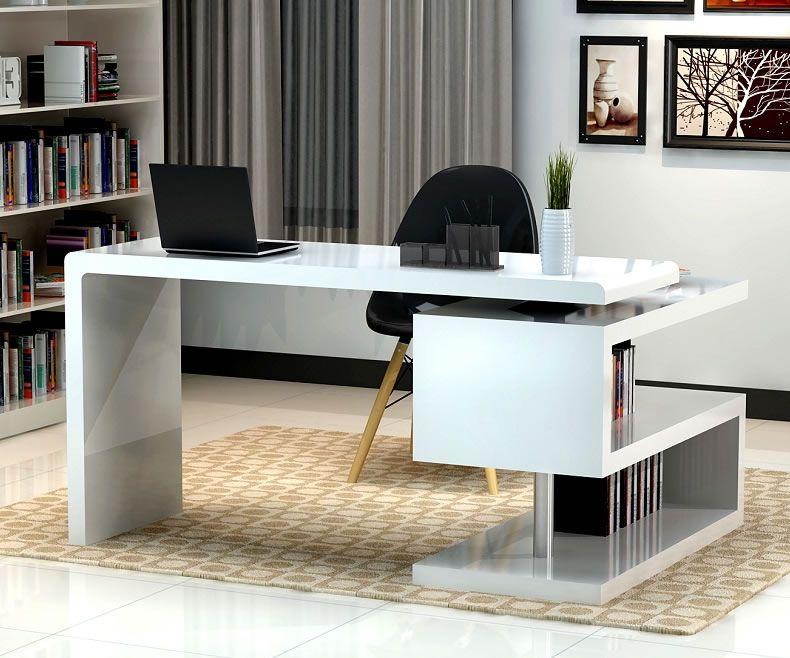 Modern Office Desk stunning modern home office desks with unique white glossy desk plus open BSVNGDP