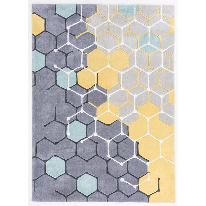 modern rugs yellow and grey modern rug SLCOFFE