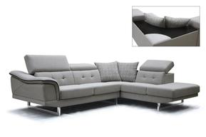 Modern Sectional Sofas divani casa gaviota modern grey fabric sectional sofa NMVBSDH