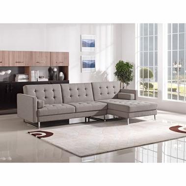 Modern Sectional Sofas divani casa smith modern brown fabric sectional sofa XFOOICU