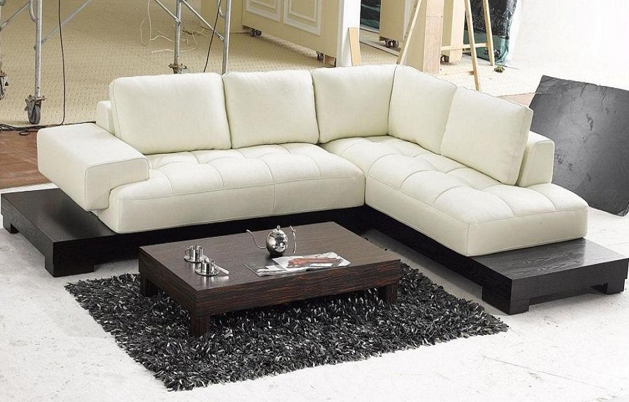 Modern Sectional Sofas how to match modern sectional sofas : modern beige leather sectional sofas DVHJXJB