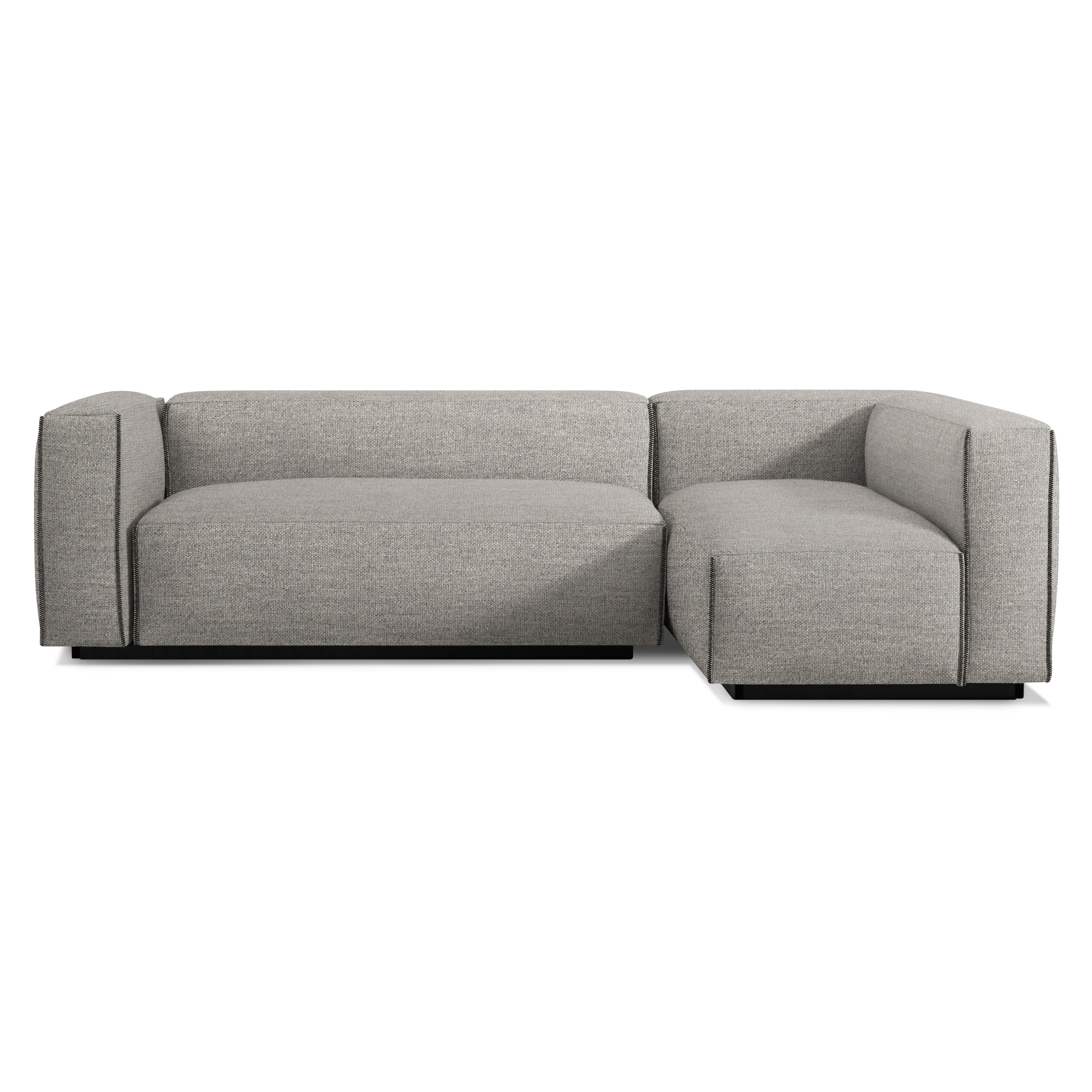 Modern Sectional Sofas previous image cleon small sectional sofa - tait charcoal ... UKXFRAQ