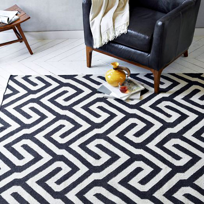 Elegance at your door step with black and white rugs