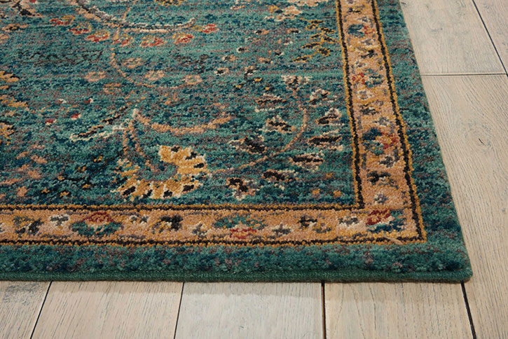 nourison 2020 nr204 teal area rug WEIXGML