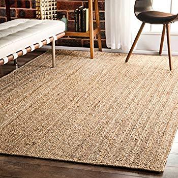 nuloom natural hand woven rigo jute rug area rug, ... MSJFEGZ