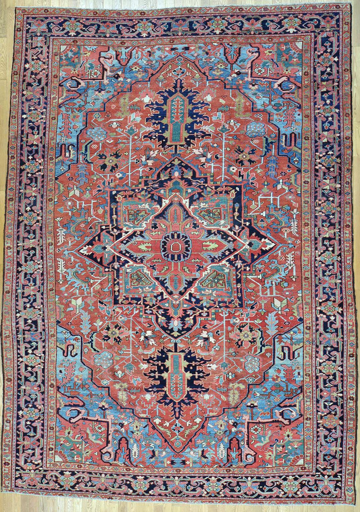Oriental rugs heriz persian rug SFYMOXG