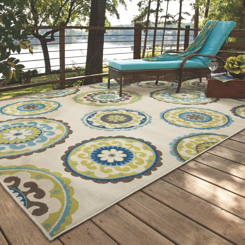 outdoor area rugs capri beige/green indoor/outdoor area rug MDHIOTG