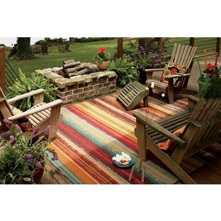 outdoor area rugs mohawk home printed outdoor multicolor rug - 5u0027 ... GHBWQYB
