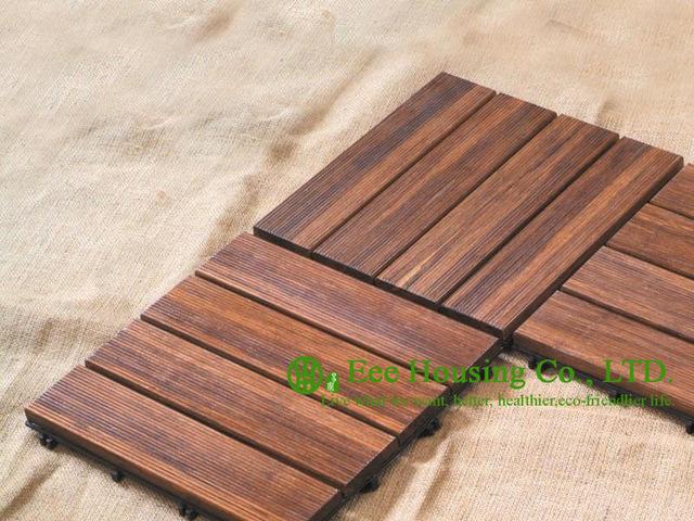 outdoor bamboo floor tiles, 300x300x25mm bathroom floor tile for sale,  garden decking JFXHXIC