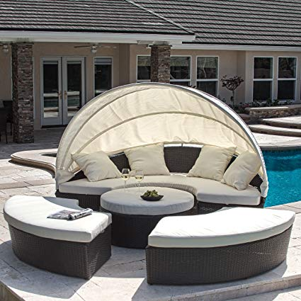 Outdoor Daybed bellagio 4-piece outdoor daybed sectional set JXRWDZH