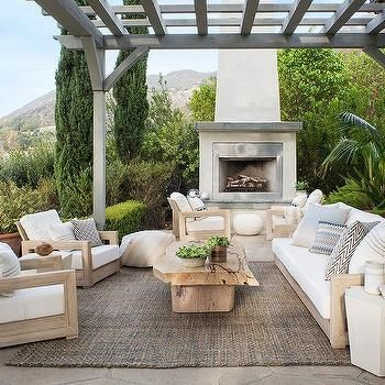 outdoor rug under patio table outdoor patio space inspiration - gray wash wood pergola element add so IAZBTGJ