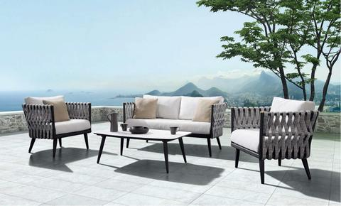 Outdoor Settings crown 4 piece lounge setting PCFLEMH