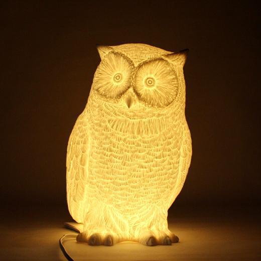 Owl Lamp ceramic white owl lamp · ceramic white owl lamp CYKRRLQ