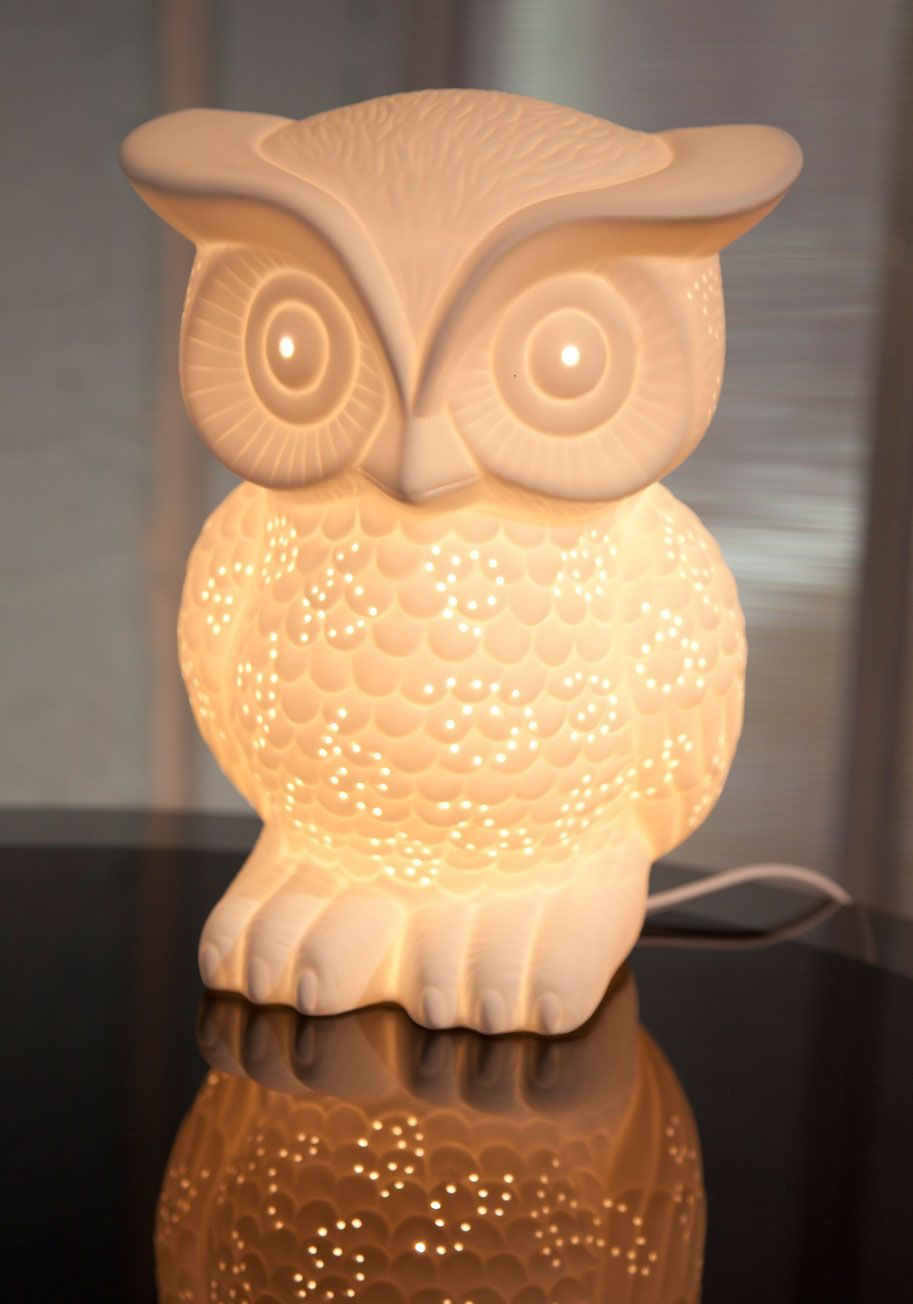 Owl Lamp nocturn-owl lamp from modcloth! BUMLKQF
