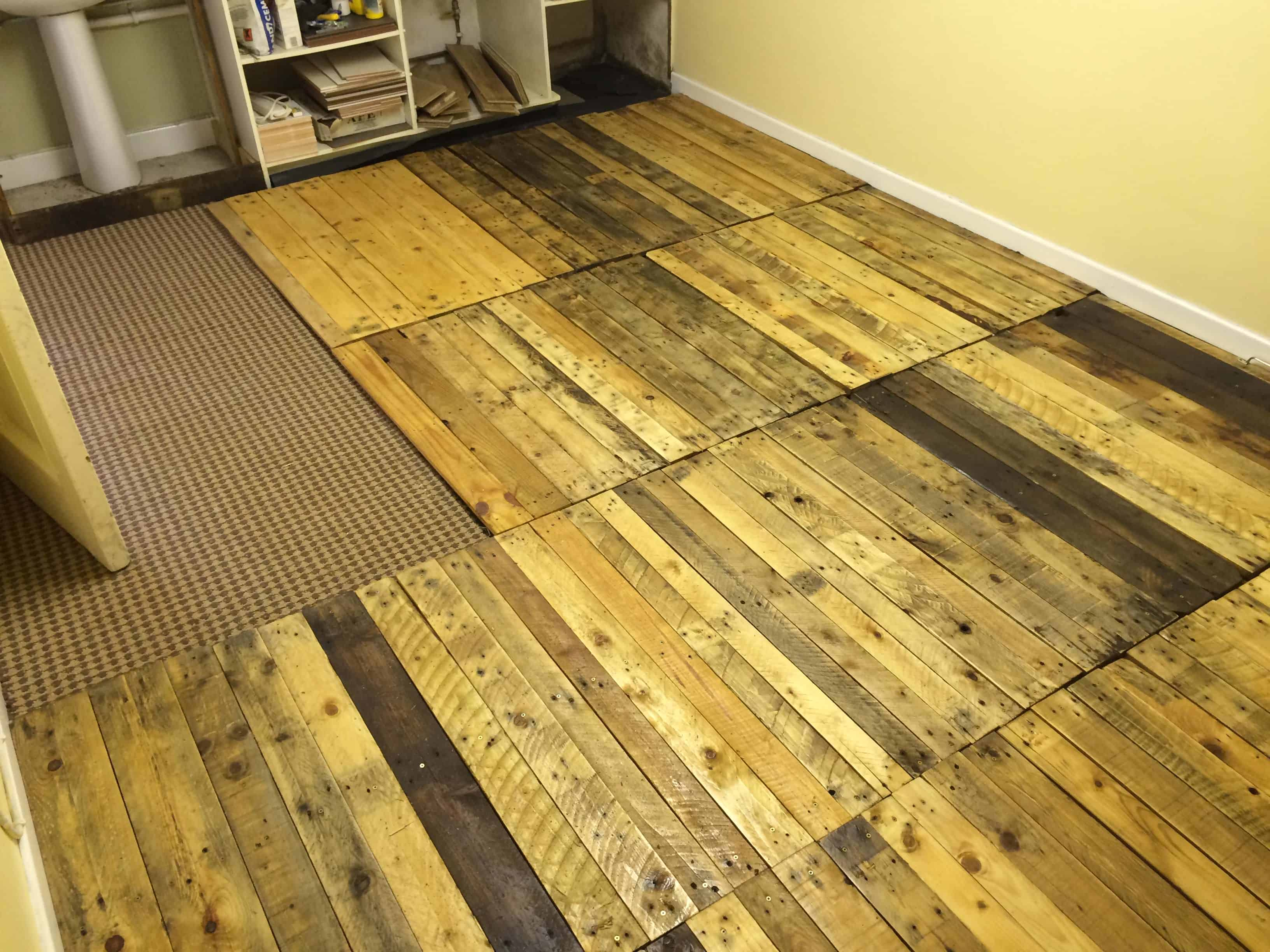 pallet wood floor removable pallet kitchen floor! PZOCGMM