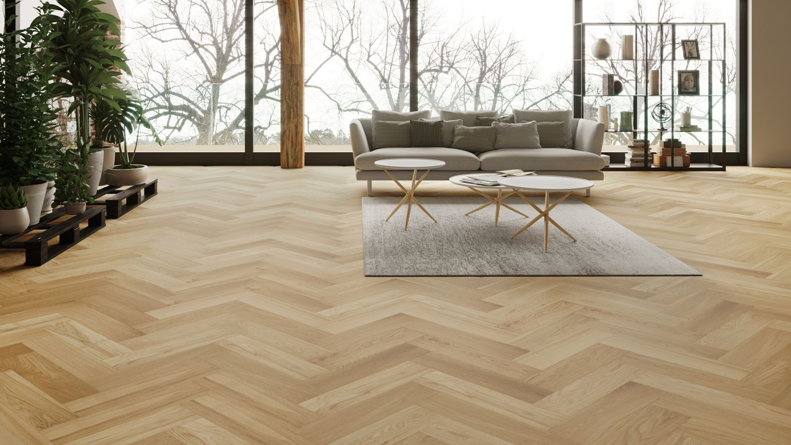 parquet floor natura oak brushed matt lacquer herringbone engineered parquet OUVLODL