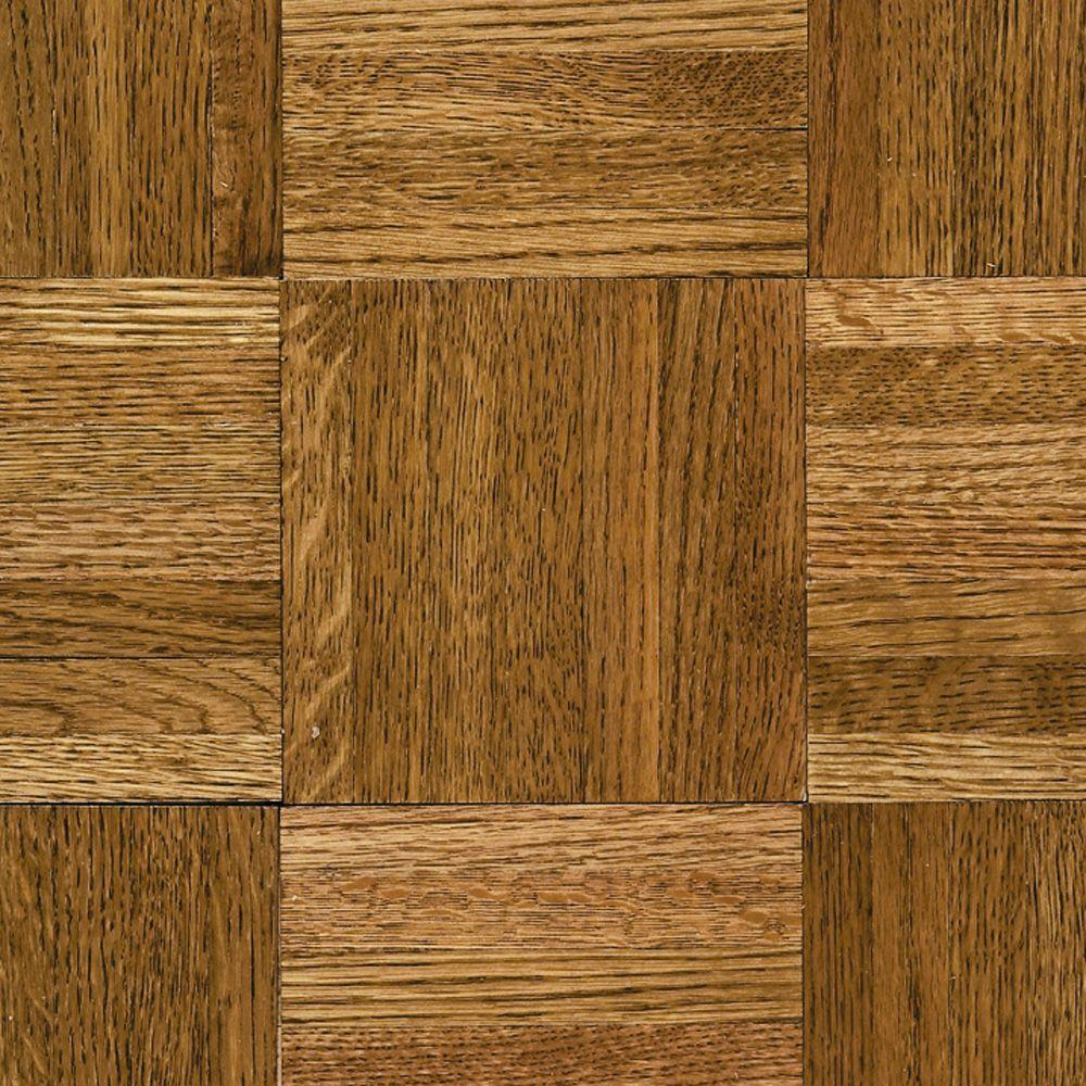parquet flooring bruce natural oak parquet spice brown 5/16 in. thick x 12 in. DTYKNUD
