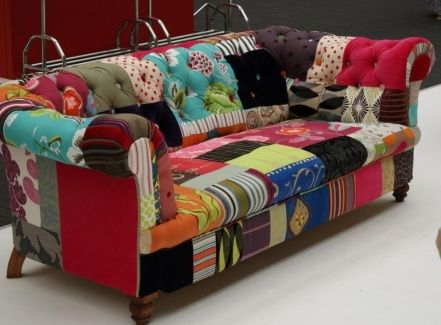 Patchwork Sofa call me crazy, but i love this patchwork sofa!! hobby lobby had one JIHJBQO