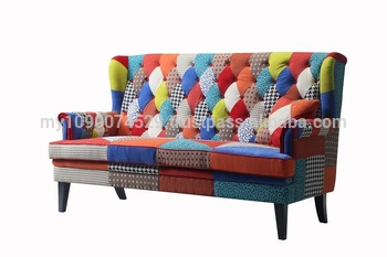 Patchwork Sofa patchwork sofa with black wood legs BMETFYE