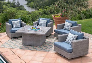 Patio Sets outdoor fire pits u0026 chat sets XYUCCJH