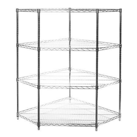 pentagon corner wire shelving units - the shelving store VTFIWKR