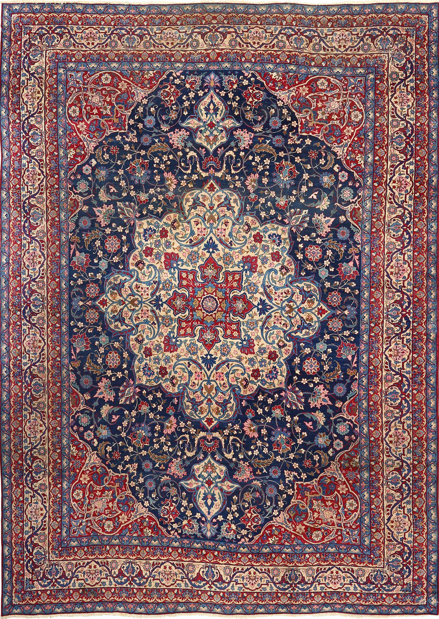 persian rugs antique blue bakground isfahan persian rug 51066 nazmiyal MZRUHQV