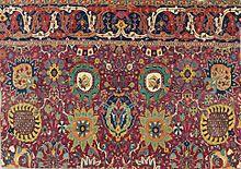 persian rugs safavid kerman u0027vaseu0027 carpet fragment, southeast persia, early 17th century FBUPPTV