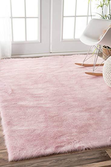 pink rug nuloom cloud shag rug, 9u0027 x 12u0027, pink LMXHLRT