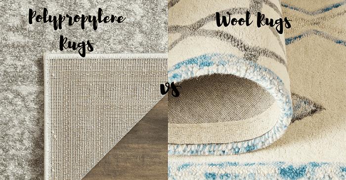 polypropylene rugs vs wool OYGOFKY