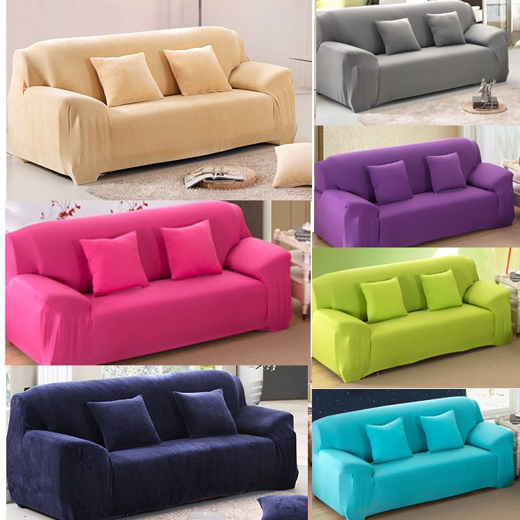 pure color removable elastic sofa slipcover lounge couch cover for 1 2 3 GYAPPVE