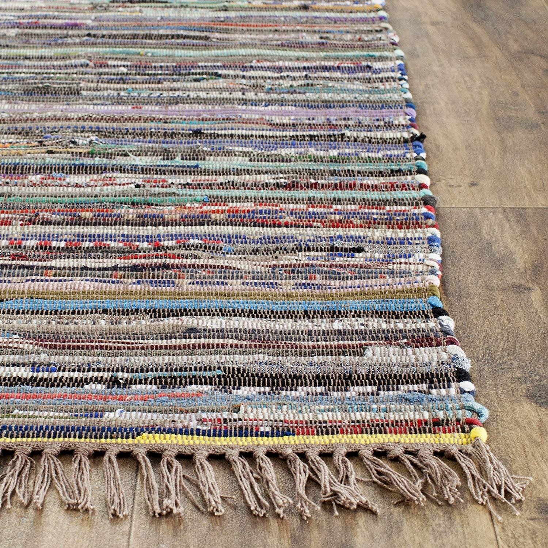 rag rugs amazon.com: safavieh rag rug collection rar121e hand woven rust and multi  cotton OYFXLHL