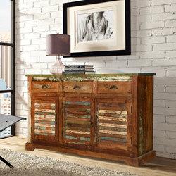 reclaimed wood furniture austin-rustic-reclaimed-wood-shutter-door-3-drawer- VJOZVOF