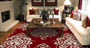 red rugs for living room amazon.com: new modern rugs for living room red u0026 cream flower rugs leaves FADFBGM