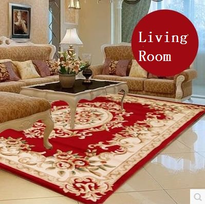 red rugs for living room elegant american rustic pure manual carve patterns wool living room rug,modern  european YYCIDIJ