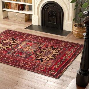 Red rugs parthenia red area rug GIOJGNU