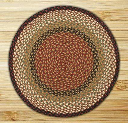 round area rugs earth rugs round area rug, 5.75u0027, burgundy/mustard PXJEICU