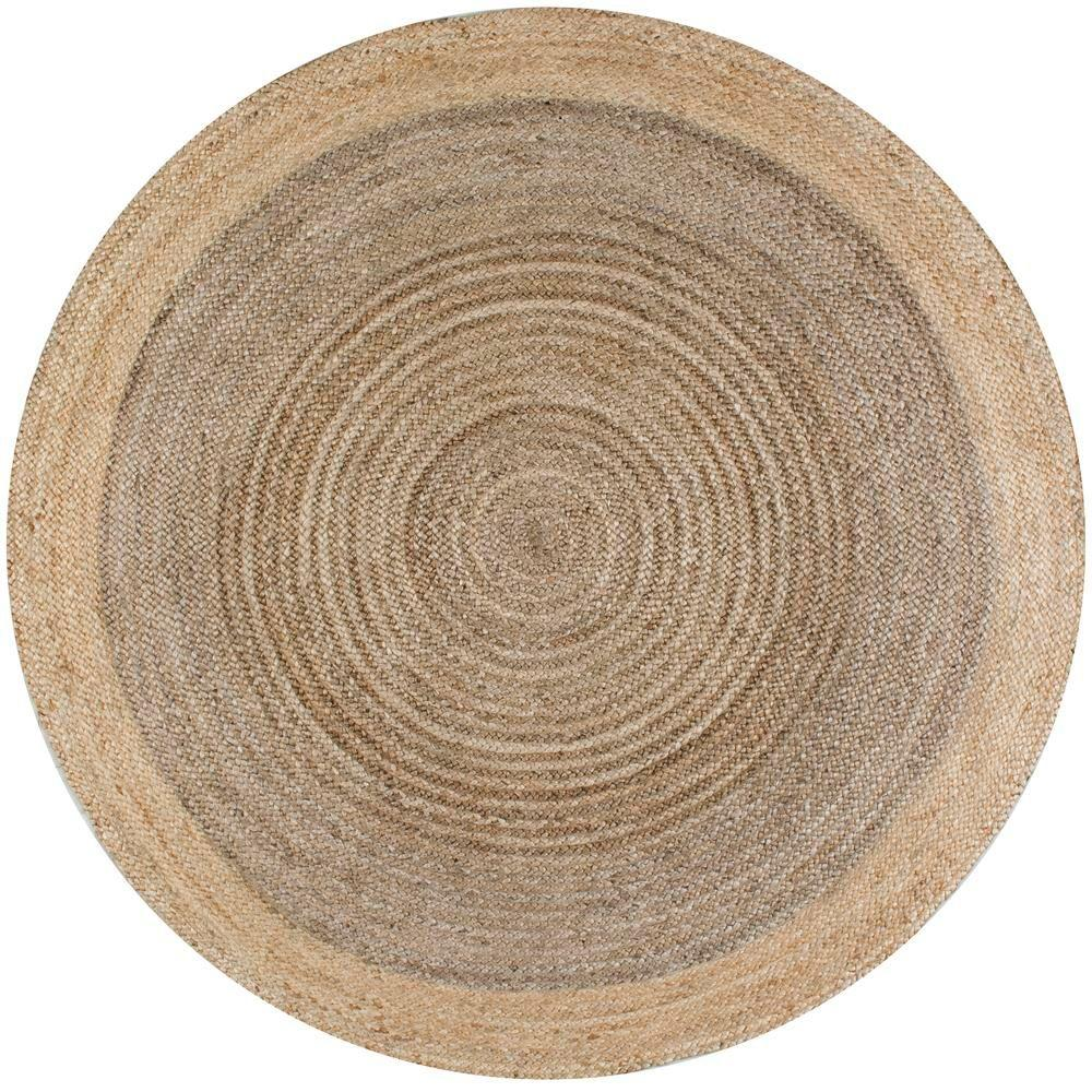 round area rugs nuloom eleonora grey 8 ft. x 8 ft. round area rug MYIVDHU