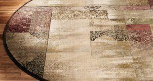 round area rugs ornate block round rug ZDVERPJ