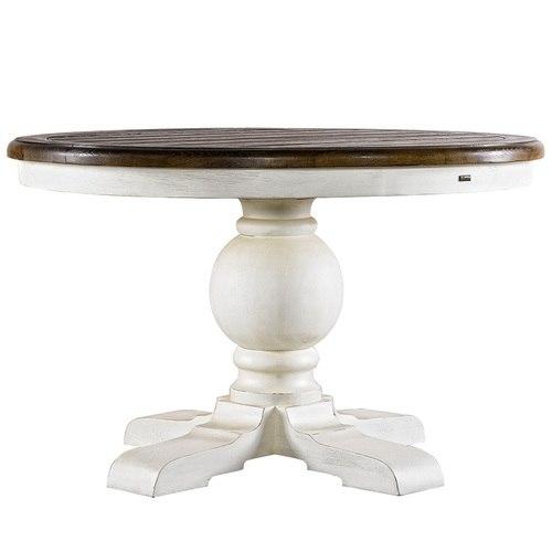 Round Pedestal Dining Table kingdom antique white oak wood round pedestal dining room table 48 IHQNRDS