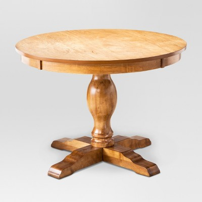 Round Pedestal Dining Table round pedestal dining table - threshold™ YABKYZE