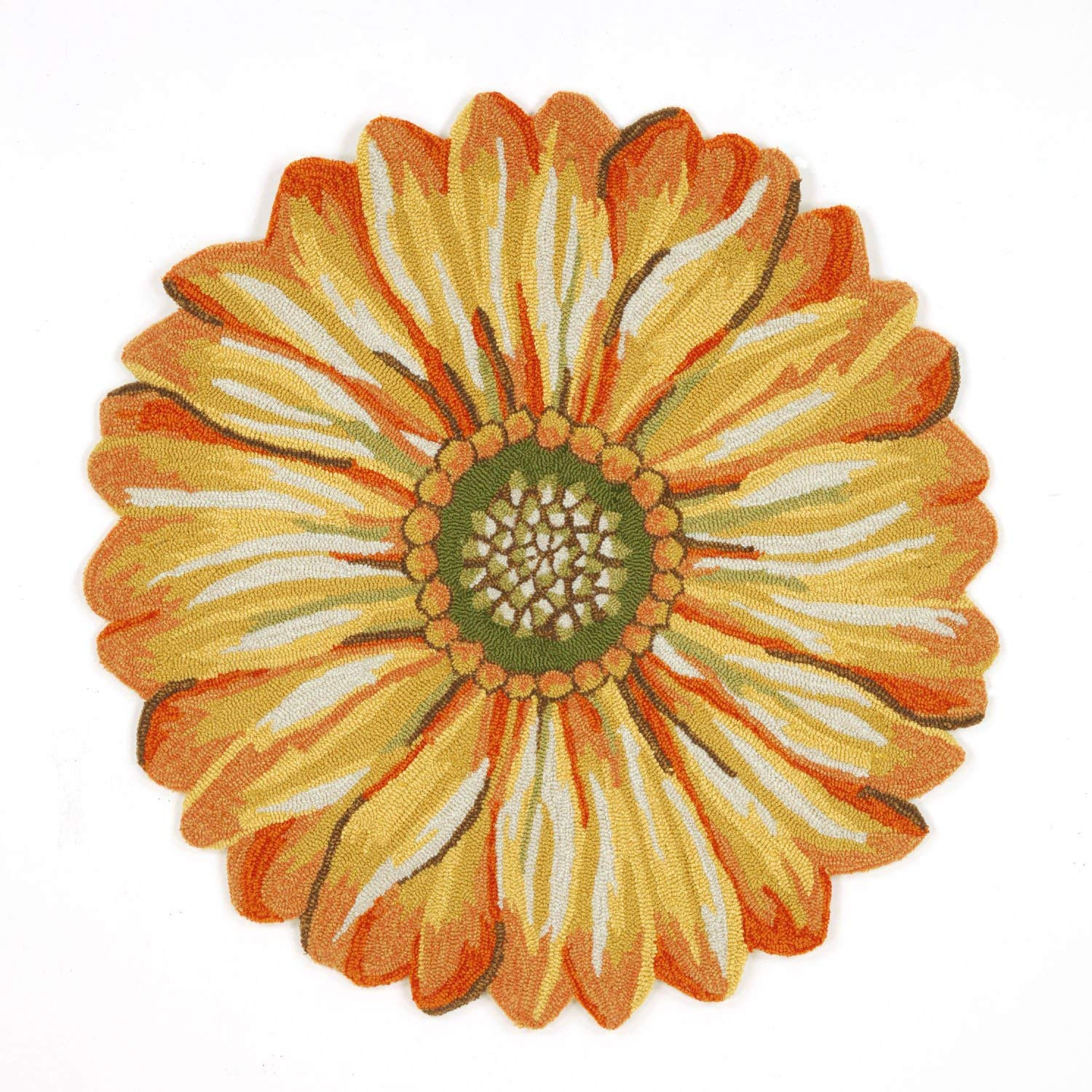 round rugs amazon.com : liora manne ft1d3a50209 whimsy round flowers rug,  indoor/outdoor, 3u0027, yellow USCJVNV