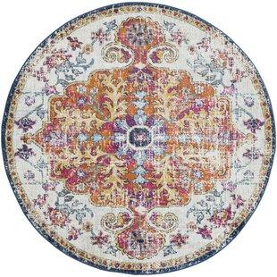 round rugs hillsby saffron area rug ARKXHAZ