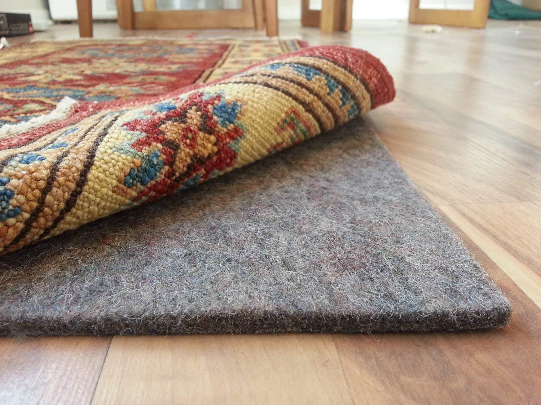 rug pad for carpet amazon.com: rug pad central 8u0027 x 10u0027 100% felt rug pad, extra thick- IIIACMZ