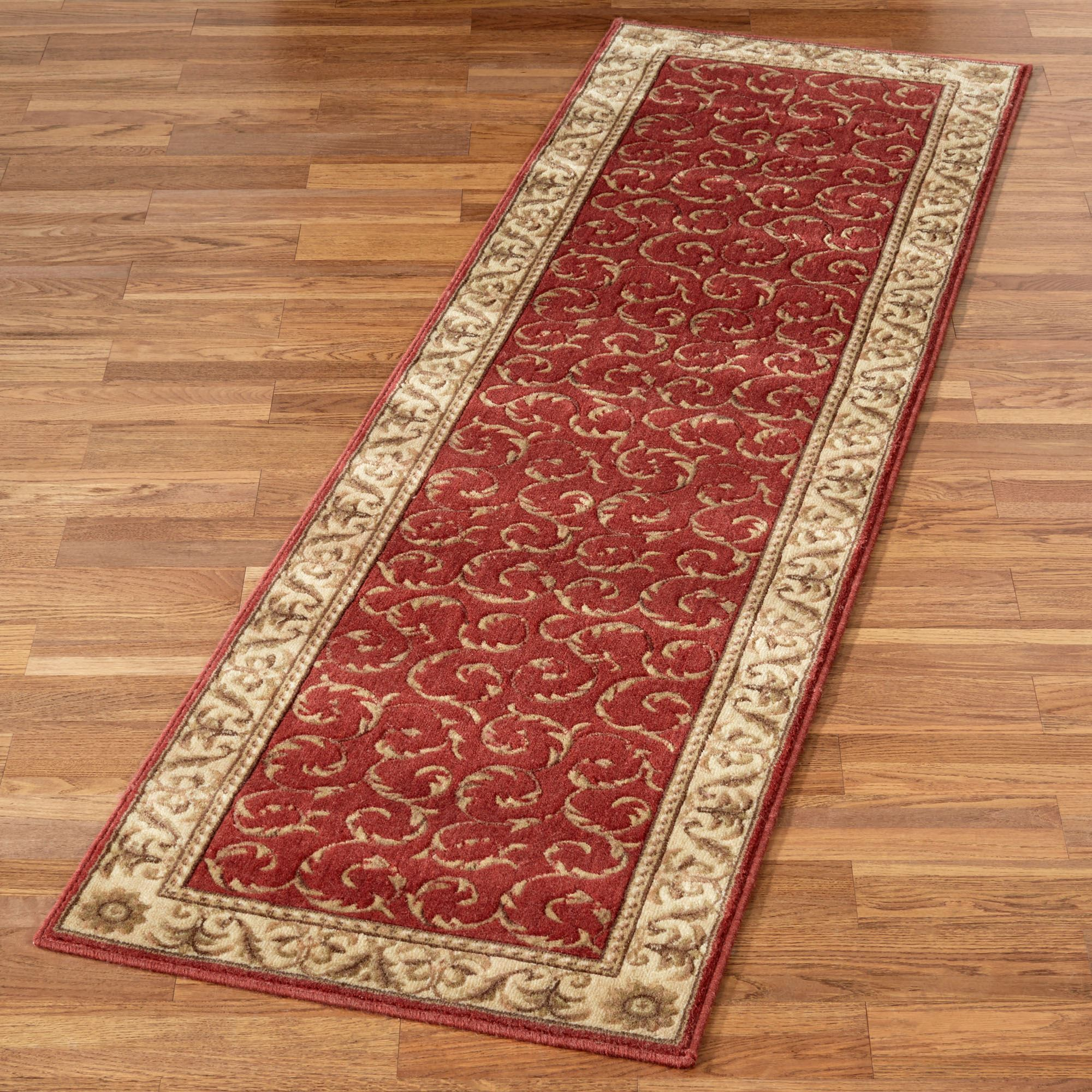 Rug runners somerset scroll rug runner NIUXLBP