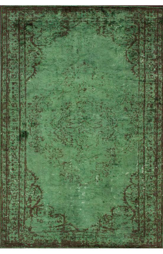 rugs usa reclaimed vintage havva overdye green rug RAGPNDS