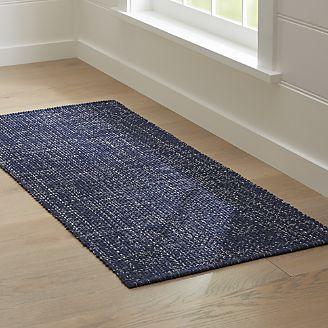 runner rug della indigo cotton flat weave rug runner 2.5x6 ZZSHCHJ